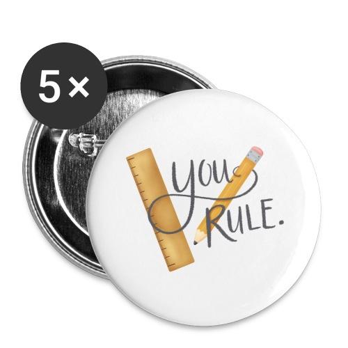 You rule! - Stora knappar 56 mm (5-pack)