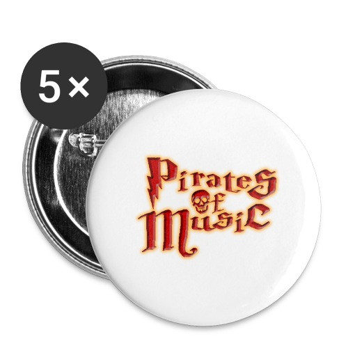 Pirates of Music - Buttons groß 56 mm (5er Pack)