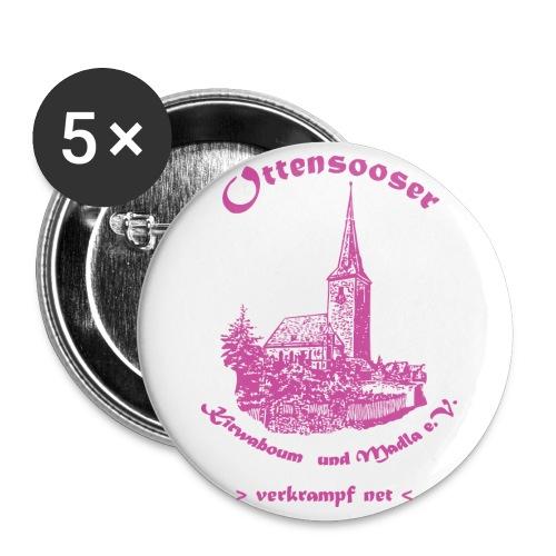 logokwbopink - Buttons groß 56 mm (5er Pack)