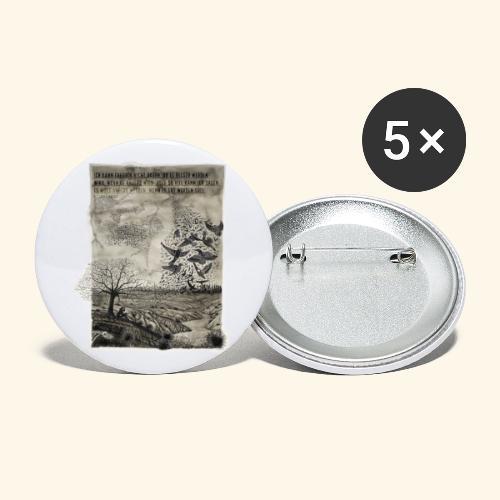 Resonanz - Imagination Veränderung - Buttons groß 56 mm (5er Pack)
