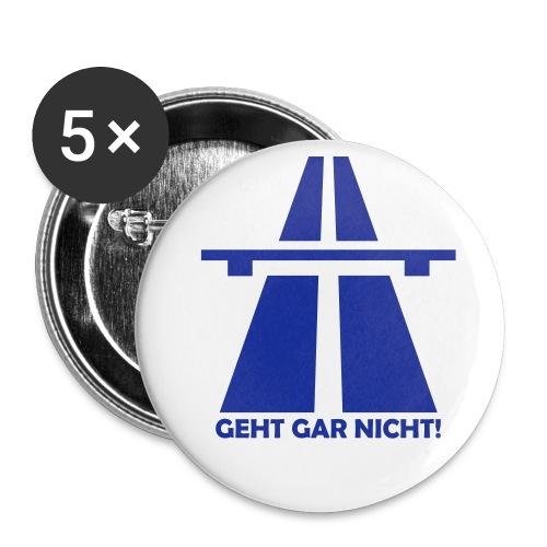 Autobahn-Zitat - Buttons groß 56 mm (5er Pack)