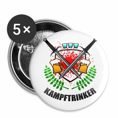 Kampftrinker Sauftour Team Bier Schnaps - Buttons groß 56 mm (5er Pack)