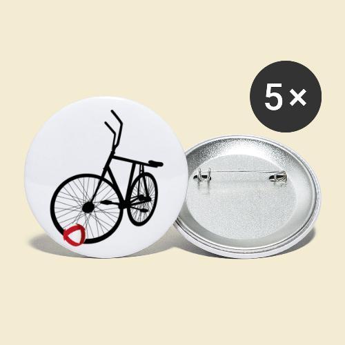 Radball | Black - Buttons groß 56 mm (5er Pack)