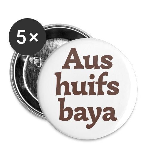 Aushuifsbayer - Buttons groß 56 mm (5er Pack)