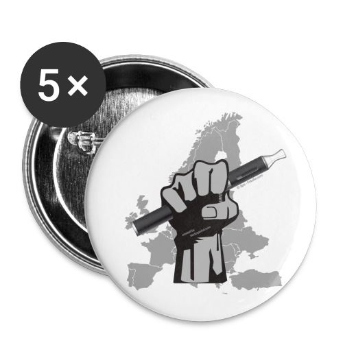 EVP Hand Europe - Buttons groß 56 mm (5er Pack)