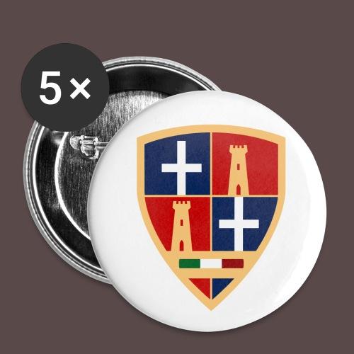 Sardegna - Stemma Sassari - Confezione da 5 spille grandi (56 mm)
