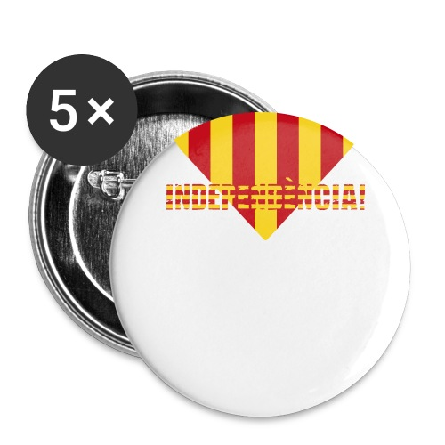 Catalonia independence - Buttons large 2.2''/56 mm(5-pack)