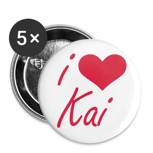 I love Kai - Buttons groß 56 mm (5er Pack)