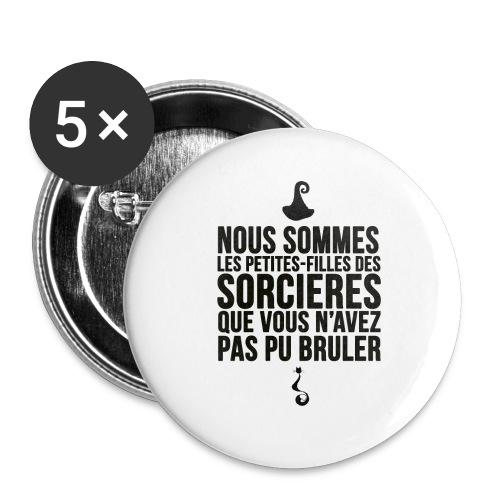 filles de sorcières - Lot de 5 grands badges (56 mm)