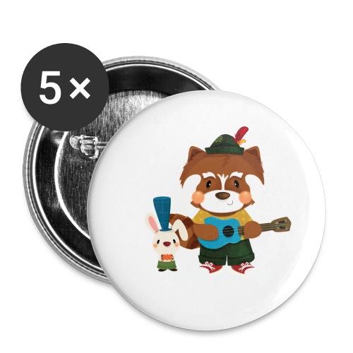 1 - Lot de 5 grands badges (56 mm)