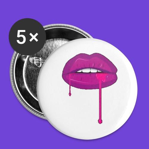 Purple Kiss - Confezione da 5 spille grandi (56 mm)