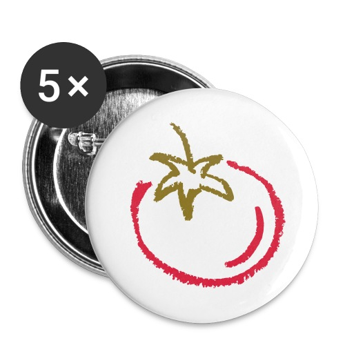 tomato 1000points - Buttons large 2.2''/56 mm(5-pack)