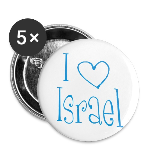I love Israel - Buttons groß 56 mm (5er Pack)