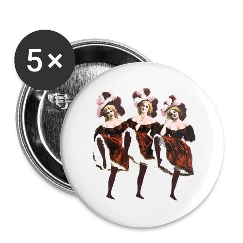 Vintage Dancers - Buttons large 2.2''/56 mm(5-pack)