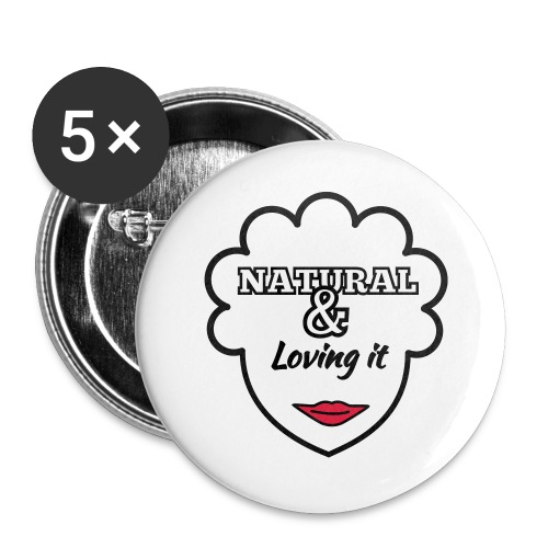 Natural & Loving It - Buttons large 2.2''/56 mm(5-pack)