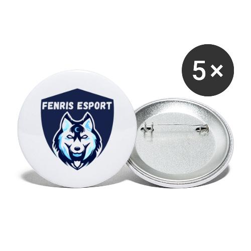 Fenris Esport - Buttons/Badges stor, 56 mm (5-pack)