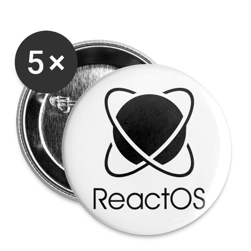 Reactos - Buttons large 2.2''/56 mm(5-pack)