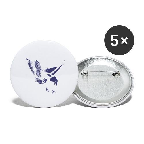 Aquila blu ed accessori - Confezione da 5 spille grandi (56 mm)