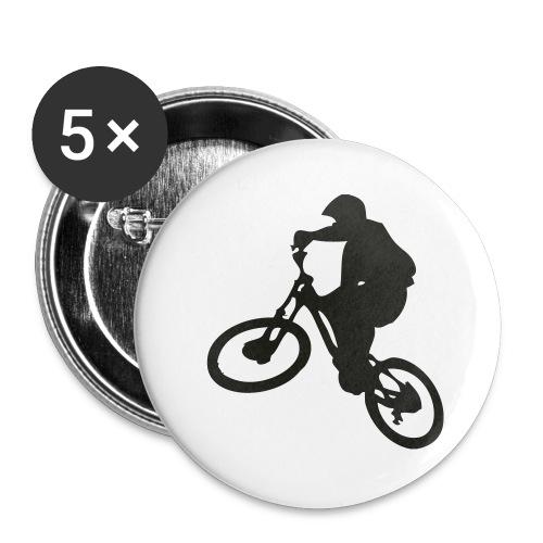 VTT Freeride - Lot de 5 grands badges (56 mm)