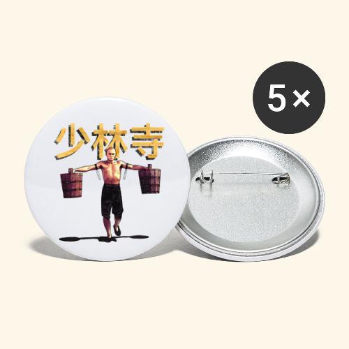 Shaolin Warrior Monk - Buttons groot 56 mm (5-pack)