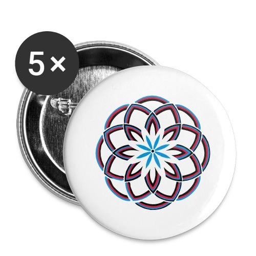 Spirograph 1 - Buttons groß 56 mm (5er Pack)
