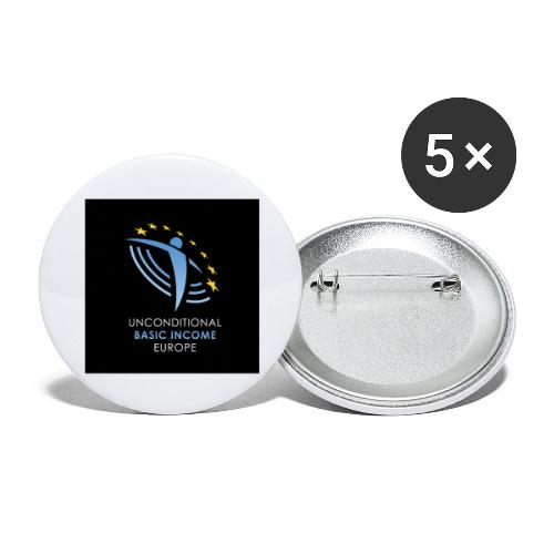 02 ubie on black centered square jpg - Buttons groot 56 mm (5-pack)