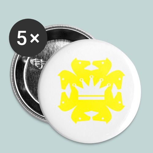 acht Springer - Buttons groß 56 mm (5er Pack)