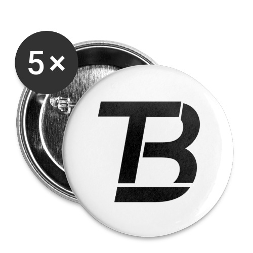 brtblack - Buttons large 2.2''/56 mm (5-pack)
