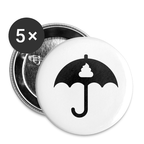 Shit icon Black png - Buttons large 2.2''/56 mm (5-pack)