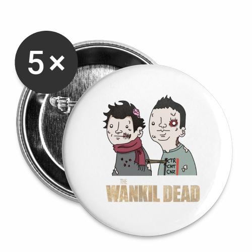 The Wankil Dead - Lot de 5 grands badges (56 mm)