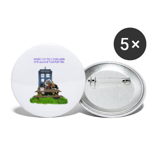 TIME AND SPACE AND TEA - Buttons large 2.2''/56 mm(5-pack)