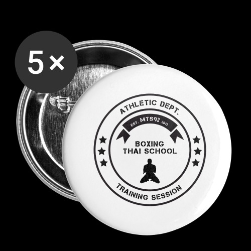 MTS92 BOXING THAI SCHOOL ROND - Lot de 5 grands badges (56 mm)