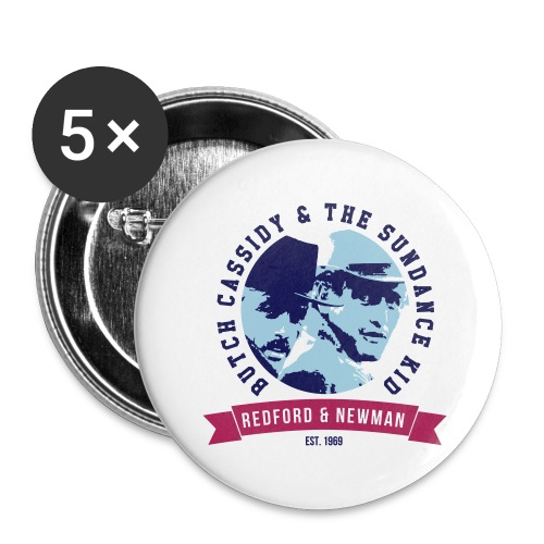 BUTCH AND THE KID - Buttons groß 56 mm (5er Pack)