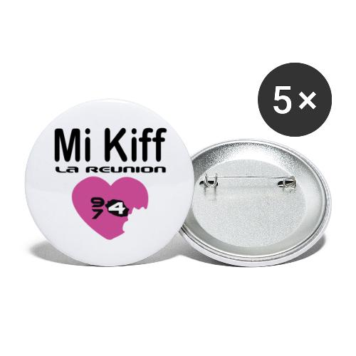 Mi Kiff la reunion - Lot de 5 grands badges (56 mm)