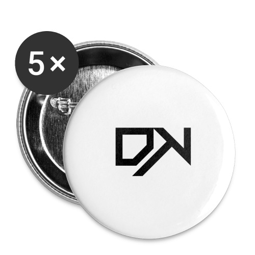 DewKee Logo T-Shirt Black - Buttons large 2.2''/56 mm(5-pack)