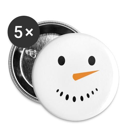 Bonhomme de neige Noël Hiver - Lot de 5 grands badges (56 mm)