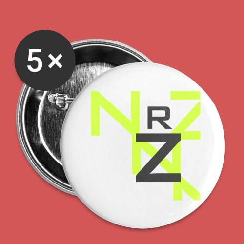 Nörthstat Group™ Clear Transparent Main Logo - Buttons large 2.2''/56 mm (5-pack)