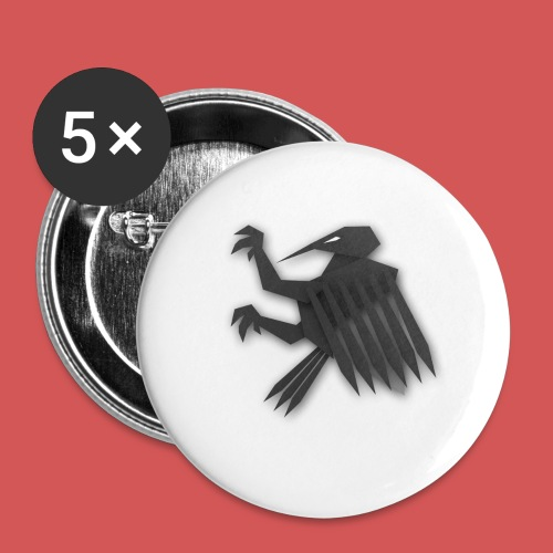 Nörthstat Group ™ Black Alaeagle - Buttons large 2.2''/56 mm (5-pack)