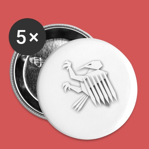Nörthstat Group ™ White Alaeagle - Buttons large 2.2''/56 mm (5-pack)