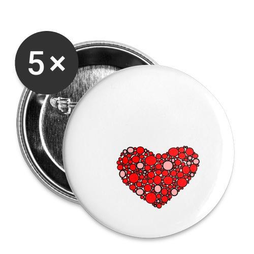 Hjertebarn - Buttons/Badges stor, 56 mm (5-pack)