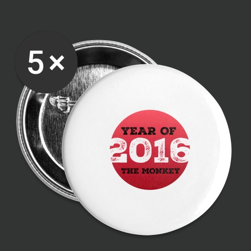 2016 year of the monkey - Buttons large 2.2''/56 mm(5-pack)