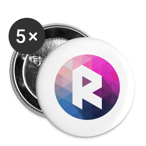 radiant logo - Buttons large 2.2''/56 mm(5-pack)