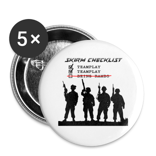 Skirm Checklist - Buttons groot 56 mm (5-pack)