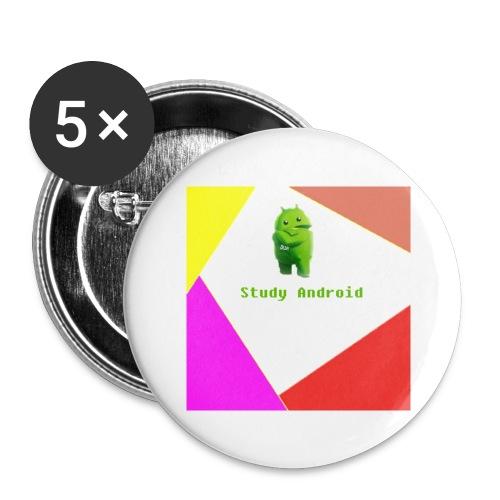 Study Android - Paquete de 5 chapas grandes (56 mm)
