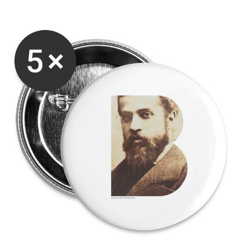 BT_GAUDI_ILLUSTRATOR - Buttons large 2.2''/56 mm(5-pack)