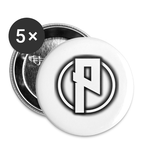 Priizy t-shirt black - Buttons large 2.2''/56 mm (5-pack)