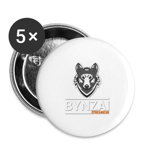 Casquette bynzai - Lot de 5 grands badges (56 mm)