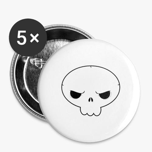 Skullie - Buttons/Badges stor, 56 mm (5-pack)