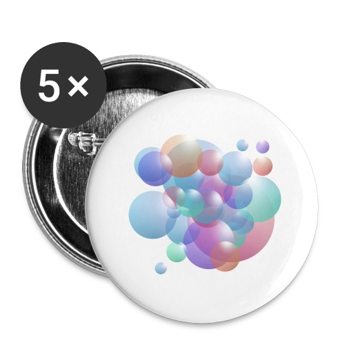 bubble - Buttons groß 56 mm (5er Pack)