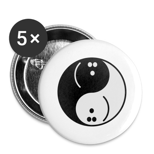 Bowling Yin-Yang - Buttons large 2.2''/56 mm (5-pack)